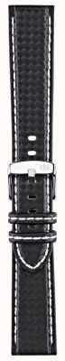 Morellato Cinturino solo - techno nero / bianco 18 millimetri A01U3586977817CR18