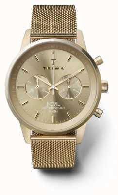Triwa Womans nevil cronografo maglia in oro NEST104:2-ME021313