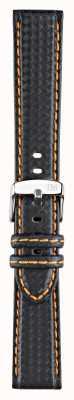 Morellato Solo cinturino - bike techno nero / arancio 18mm A01U3586977886CR18