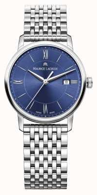 Maurice Lacroix bracciale in acciaio quadrante blu Womens Eliros EL1094-SS002-410-1