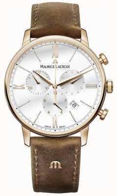 Maurice Lacroix Mens Eliros cronografo cinturino marrone in pelle di vitello EL1098-PVP01-113-1