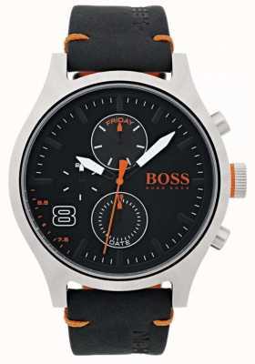 Hugo Boss Orange Mens amsterdam pelle nera 1550020