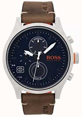 Hugo Boss Orange Mens amsterdam pelle marrone 1550021