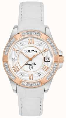 Bulova Womans stelle marine diamante bianco 98R233