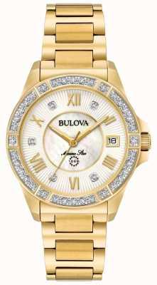 Bulova Womans tono oro stella marina 98R235