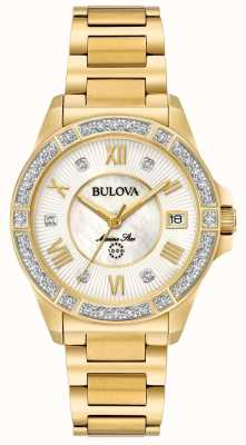 Bulova Womans stella marina diamante color oro 98R235