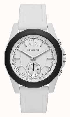 Armani Exchange Cinturino in silicone bianco cinturino orologio connesso AXT1000