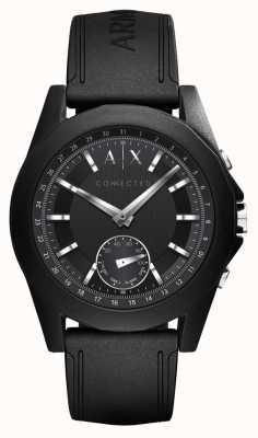 Armani Exchange Cinturino in silicone nero cinturino orologio connesso AXT1001