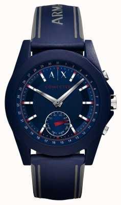 Armani Exchange Cinturino in silicone blu cinturino orologio connesso AXT1002