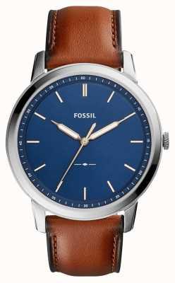 Fossil Cuoio marrone minimalista marrone FS5304