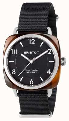 Briston Unisex clubmaster acciaio acetato nero nero con nato cinghia 17536.SA.T.1.NB