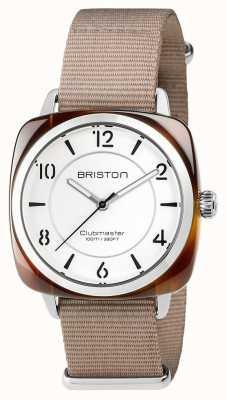 Briston Unisex clubmaster chic beige acetato acciaio con nato cinghia 17536.SA.T.2.NT