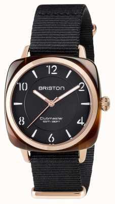 Briston Unisex clubmaster chic nero acetato pvd oro rosa 17536.PRA.T.1.NB