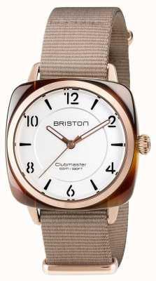 Briston Unisex clubmaster chic beige acetato pvd oro rosa 17536.PRA.T.2.NT