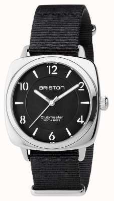 Briston Unisex clubmaster acciaio nero chic con nato cinghia 17536.S.L.1.NB