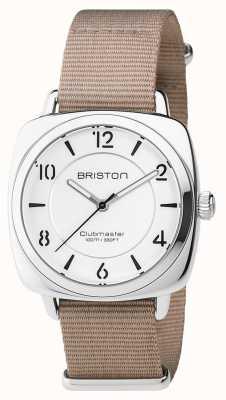 Briston Unisex clubmaster chic beige acciaio con nato cinghia 17536.S.L.2.NT