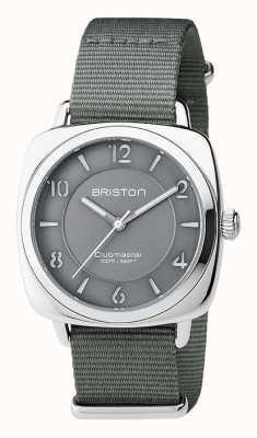 Briston Unisex clubmaster acciaio grigio chic con nato cinghia 17536.S.L.17.NG