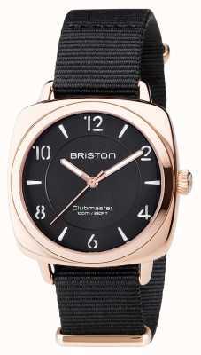 Briston Unisex clubmaster chic nero pvd oro rosa 17536.SPRG.L.1.NB