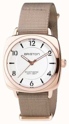 Briston Steel clubmaster chic - quadrante bianco oro hms 17536.SPRG.L.2.NT