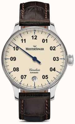 MeisterSinger Mens circularis avorio automatica CC903