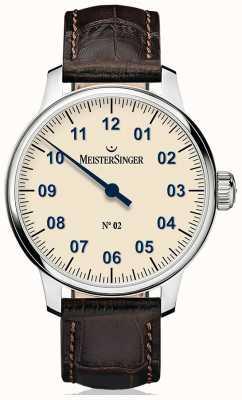 MeisterSinger Mens non classico. 2 mano avvolta avorio AM6603N