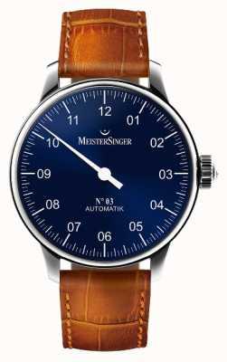 MeisterSinger Mens non classico. 3 blu raggera automatica AM908