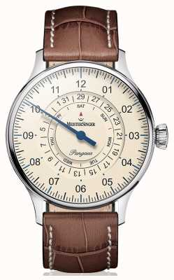 MeisterSinger Mens data Classic Plus Pangea Day PDD903