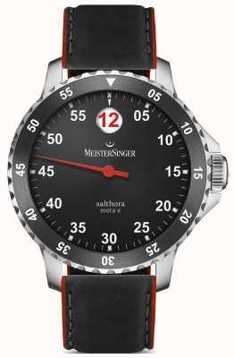 MeisterSinger Mens Classic Plus salthora meta x rosso nero automatica SAMX902