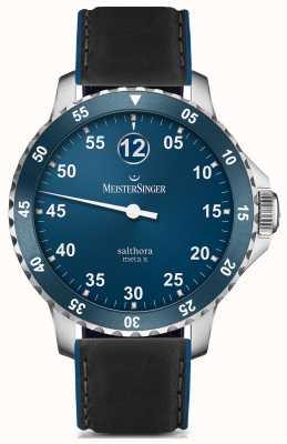 MeisterSinger Mens Classic Plus salthora meta x blu automatico SAMX908