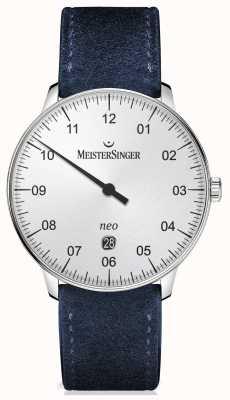 MeisterSinger modulo di Mens automatica e argento stile NE401