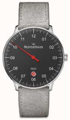 MeisterSinger Mens forma e stile neo più nero automatico NE402