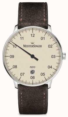 MeisterSinger Mens forma e stile neo più avorio automatica NE403
