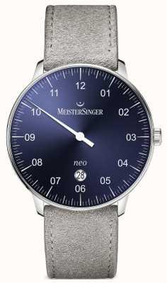 MeisterSinger modulo Mens e neo stile più blu solarizzazione automatica NE408