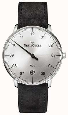MeisterSinger modulo Mens e lo stile neo argento sunburst automatica NE901N
