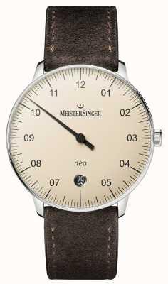 MeisterSinger modulo Mens e stile neo avorio automatica NE903N