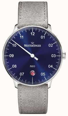 MeisterSinger modulo Mens e lo stile neo blu solarizzazione automatica NE908N