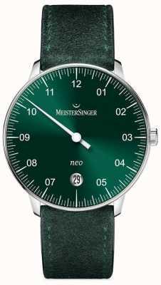 MeisterSinger modulo Mens e lo stile neo verde solarizzazione automatica NE909N