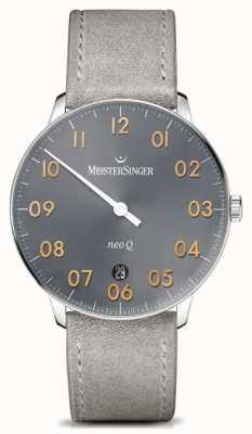 MeisterSinger Forma e stile maschile neo q quarzo scoppio di sole medio grigio NQ907GN