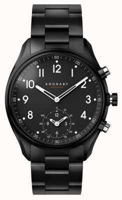 Kronaby Smartwatch con cinturino metallico in pvd nero apex bluetooth da 43 mm A1000-0731