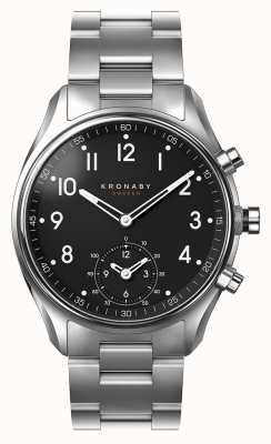 Kronaby Smartwatch con quadrante nero in acciaio inox apex bluetooth da 43 mm A1000-1426