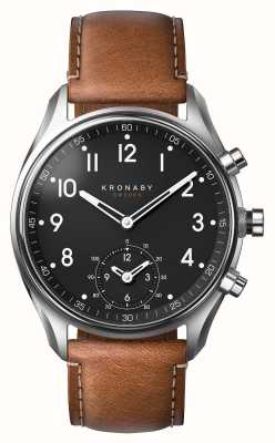 Kronaby Smartwatch apribile bluetooth in pelle marrone 43mm A1000-0729