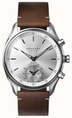 Kronaby 43mm pelle marrone scuro bluetooth sekel a1000-0714 S0714/1