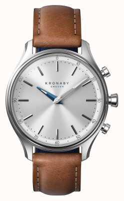 Kronaby Smartwatch con cinturino in pelle marrone 38mm sekel A1000-0658