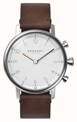 Kronaby Smartwatch con cinturino in pelle marrone bluetooth da 38 mm nord A1000-0711