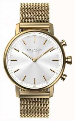 Kronaby Smartwatch con cinturino in maglia oro bluetooth da 38 mm A1000-0716