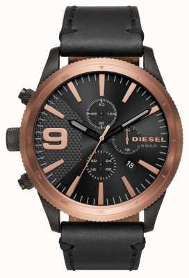 Diesel Gents raspa chrono oro rosa / orologio nero DZ4445