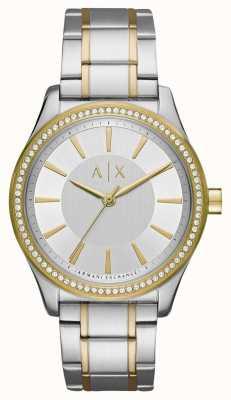 Armani Exchange Ladies nicolette due orologi di tono AX5446