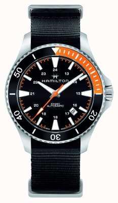 Hamilton Mens cachi navy scuba automatico nero H82305931