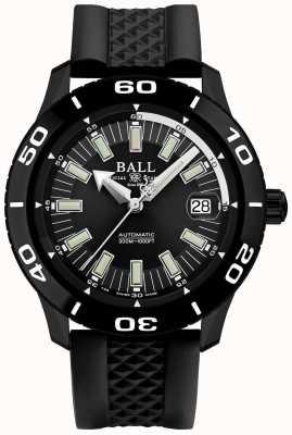 Ball Watch Company Cinturino in gomma nera cinturino pvd DM3090A-P4J-BK
