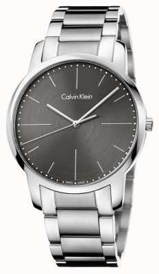 Calvin Klein Quadrante grigio del braccialetto dell'acciaio inossidabile della città di Mens K2G2G1Z3